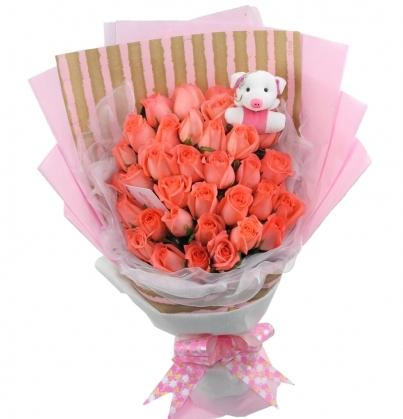 33支粉玫瑰/我的宝贝