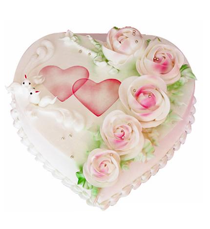 心形蛋糕/花海
