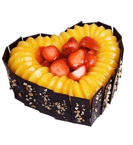 心形水果蛋糕/金色的梦幻