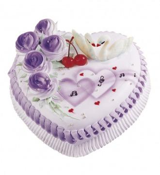 心形鲜奶蛋糕/两两相依