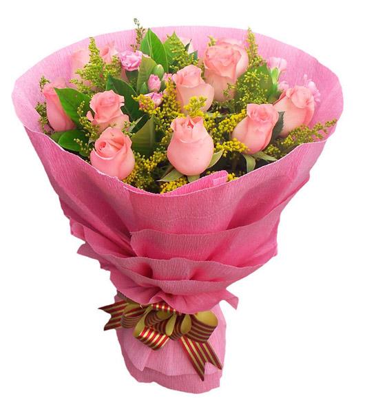 12朵粉玫瑰/爱意无边