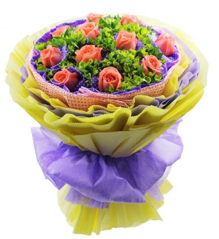 11朵粉玫瑰/因为爱情