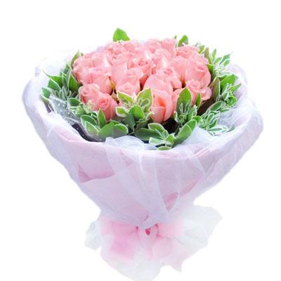 20朵粉玫瑰/太过爱你