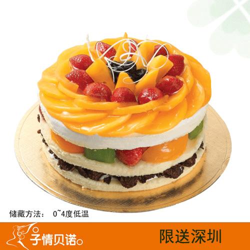 深圳子情贝诺蛋糕/黄金芒果脆(6寸)