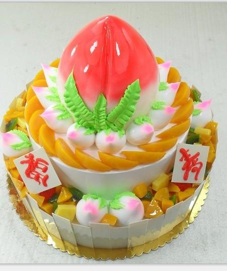 祝寿蛋糕/寿桃献瑞(8寸+12寸)