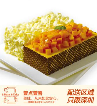 壹�c壹客蛋糕/榴�芒果�p拼 (6寸)