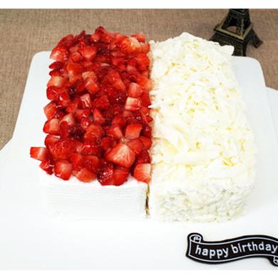 一品�蛋糕/冰火�p拼蛋糕 (8寸)