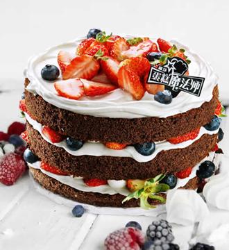 【罗莎蛋糕】乳脂巧克力裸蛋糕(提前1天预订)