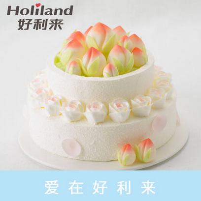 好利来蛋糕/仙桃献瑞(10寸)(限送北京五环内)