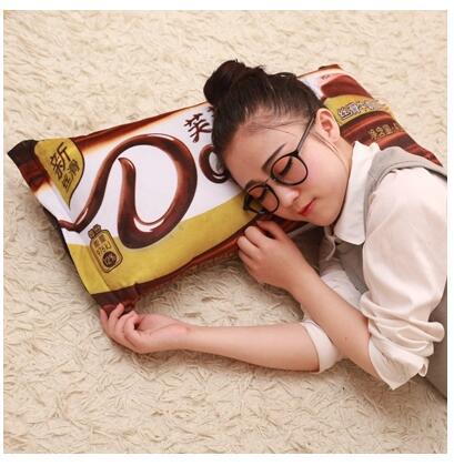 德芙巧克力长枕靠垫送女友生日礼物(65*32厘米)