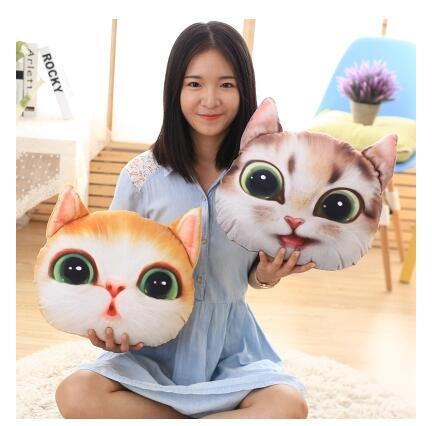 毛绒玩具小猫咪萌脸猫(37*30 厘米)