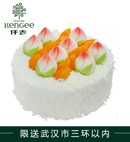 仟吉蛋糕/ 蟠桃祝�郏�8寸)