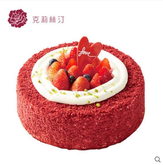 克莉丝汀/红丝绒草莓蛋糕鲜奶蛋糕(6寸)