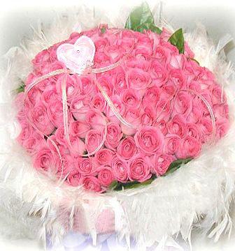 108朵粉玫瑰/拥你一辈子