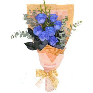 7朵蓝玫瑰/海蓝幻想