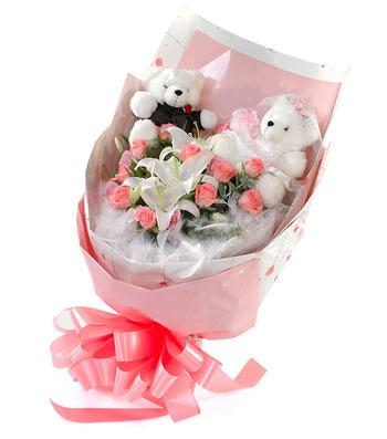 11朵粉玫瑰/天地情缘