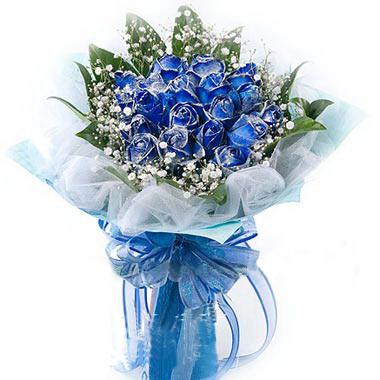 19朵蓝色妖姬/有你的幸福