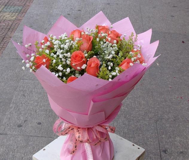11朵粉玫瑰/爱你一生一世