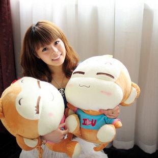 50CM嘻哈猴公仔 创意情侣猴子 可爱 毛绒玩具 婚庆压床娃娃