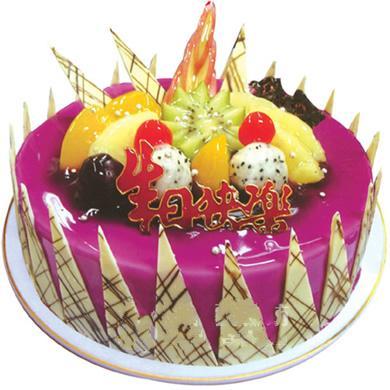 �A形�r奶水果蛋糕/奇思妙想(8寸)